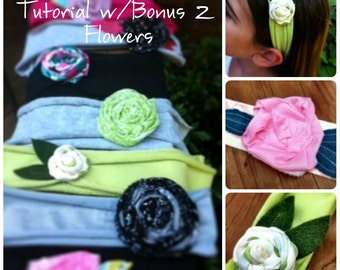 Knit Fabric Headband  & Flower Tutorial- How To Pattern