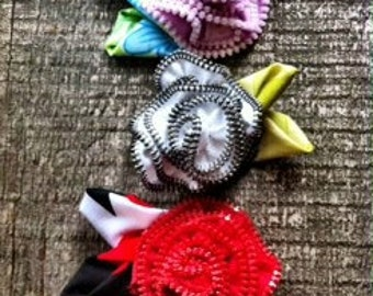 Zipper Flower Tutorial- How To Pattern INSTANT DOWNLOAD