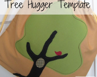 Tree Hugger Fabric Applique Template -PDF File