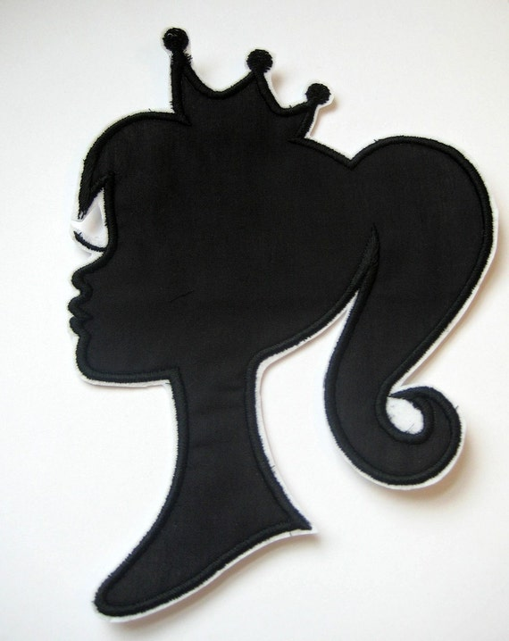 Princess Shadow Silhouette Diy Iron On Applique New Design