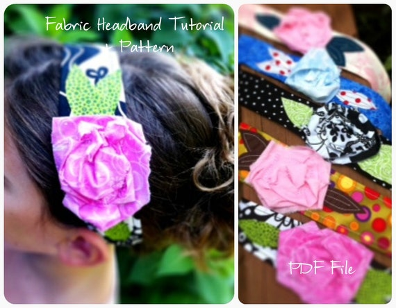 Fabric Flower Headband Tutorial- How To Downloads INSTANTLY