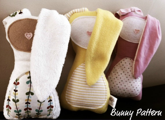 Bunny Sewing Pattern- Plush Toy Bunny Pattern -INSTANT DOWNLOAD PDF
