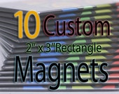 Custom Art Magnets - Rectangle - 10 Pack