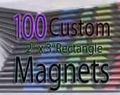 Custom Art Magnets - Rectangle - 100 Pack