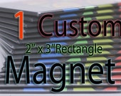 Custom Art Magnet - Rectangle - Single
