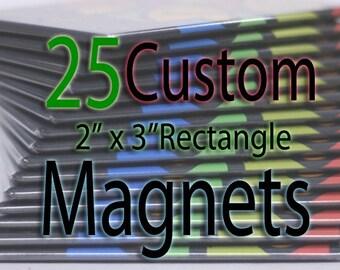 Custom Art Magnets - Rectangle - 25 Pack