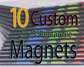 Custom Art Magnets - Rectangle - 10 Pack