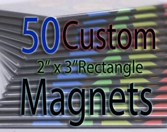 Custom Art Magnets - Rectangle - 50 Pack