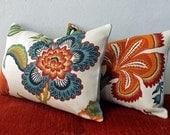 Schumacher Spark Hot House Flowers Pair of Pillows