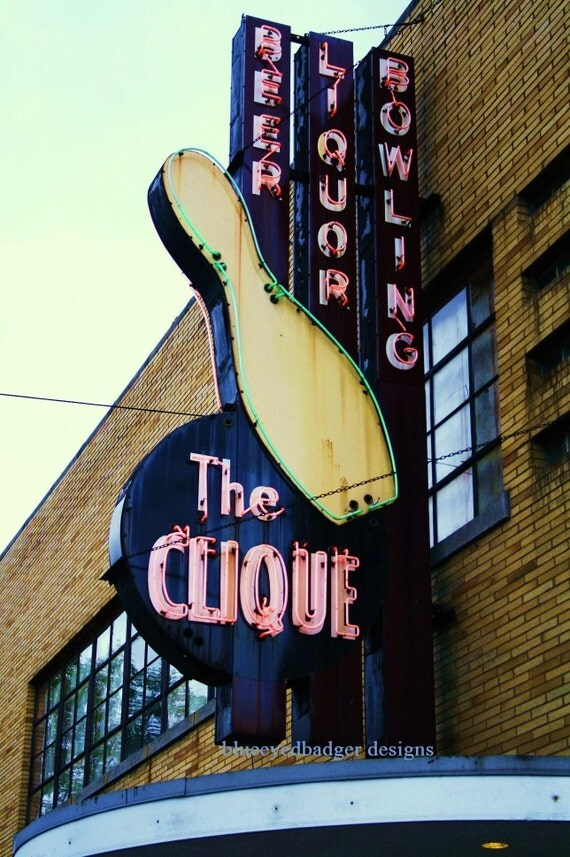 The Clique Bowling Alley, Grand Rapids, Michigan, color photography, photographers of michigan, photographers of etsy.