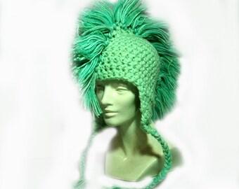 SALE-Light Green Mohawk Hat