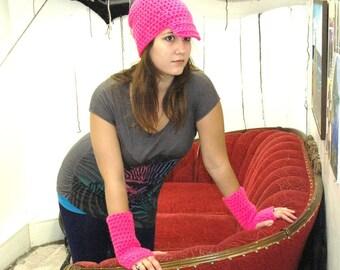 SALE-Hot Pink Hipster Hat