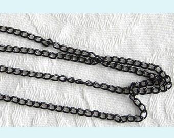 20ft of  Black Enamel  Curb Link Chain