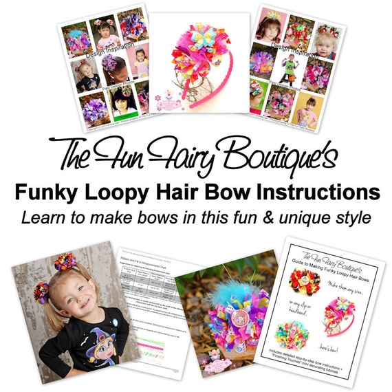 boutique style hair bow tutorial items similar to new make boutique funky loopy hair bow 6832