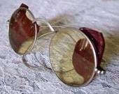 SALE Antique WWI, Steampunk Industrial World War One - ALBEX marked Taw & Co- Safety Goggles Bikers-Welding-Aviator Glasses