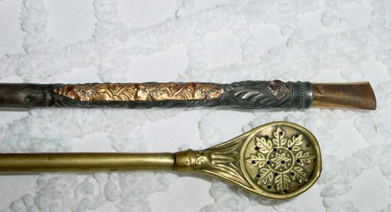 SALE- Rare Antique Bombilla - Mate Metal Straws from Argentina, Ornate Tea Sippers, Drinking Tool