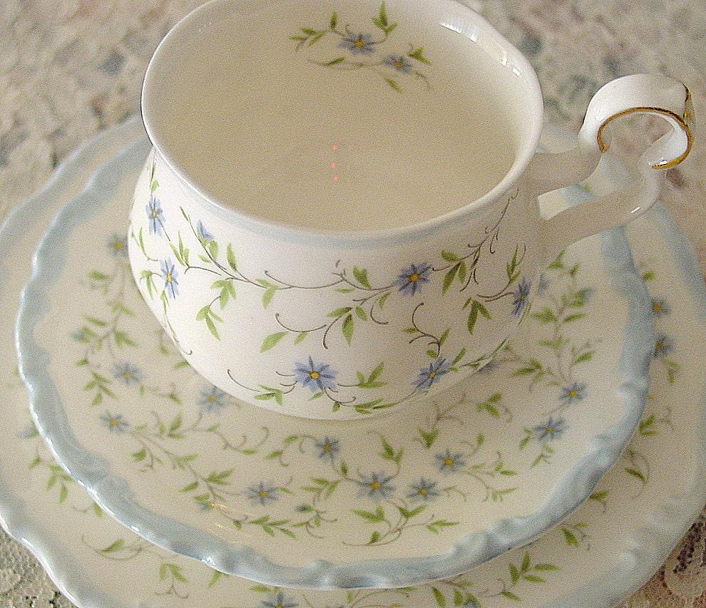 Royal Albert Caroline Pattern Trio Vintage Tea Set Tea Cup
