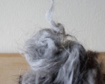 CHINCHILLA rabbit fibre,  100 g, natural grey fibre