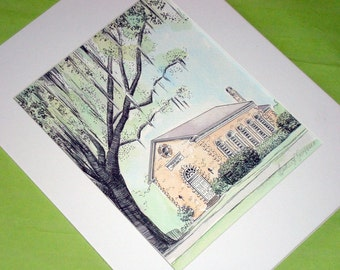RESERVED FOR ASHLEY - 8x10 Bethesda Chapel and 11x14 Bethesda Gate Hand Painted and Signed Fine Art Prints by Heather L Young