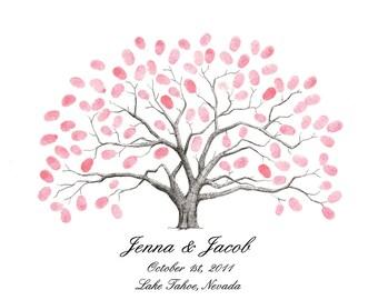 Thumbprint Tree Wedding Guest Book Alternative Live Oak Tree