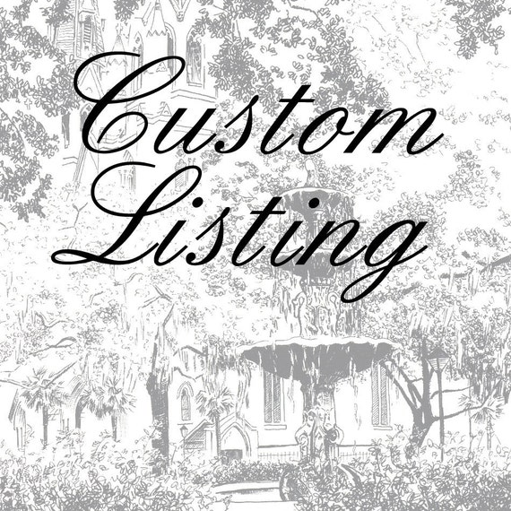 RESERVED LISTING Custom Pen and Ink Architectural Drawing of your House or Home