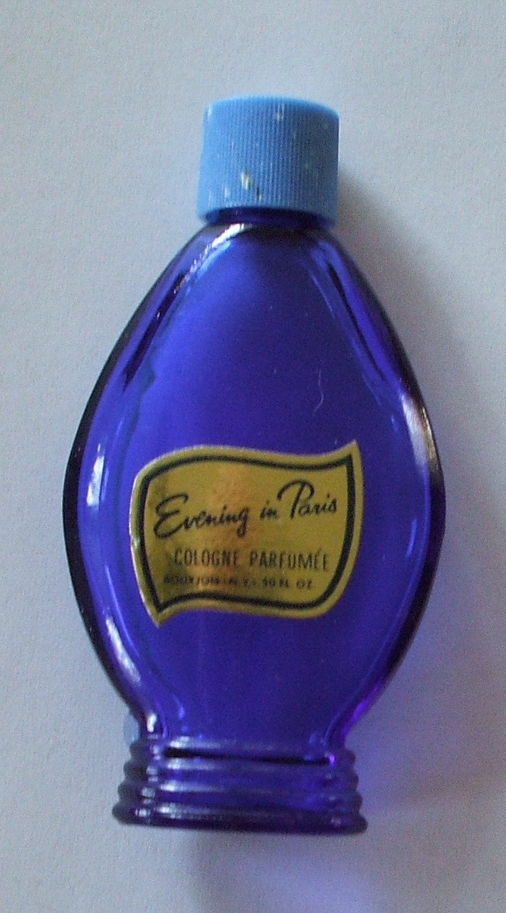Vintage Bourjois Evening In Paris Cobalt Perfume Bottle