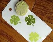 Hand Carved four leaf Clover Stamp
