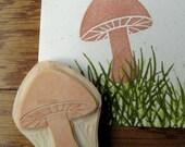 Hand Carved Mushroom Stamp