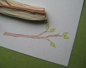 Tree Branch Rubber Stamp Hand Carved