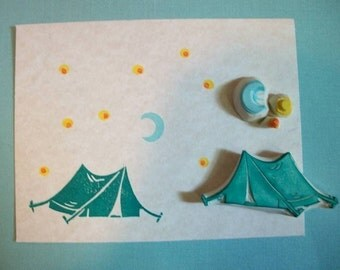 Camping Tent Stamp Set