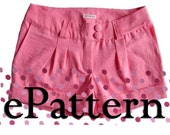 PDF tutorial and pattern Shorts - Hot pants