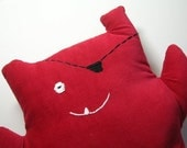 Clearance Sale Pirate Monster Plush in Bright Red Corduroy On Sale