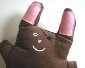 Plush Bunny Pirate in Brown Corduroy-Now in Mini Size