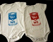 Yes We CAN - Soupcan -  Baby Onesie RED sz 6 to 12