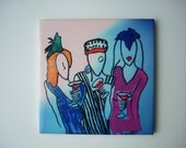 Martini Ladies - The Whimsical Art of Cocktails - Ceramic Tile