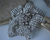 SALE Lilly-old hollywood crystal rhinestone comb or headpiece-made to order