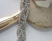 SALE Lane-braided crystals and silk headpiece-custom made to order