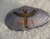 Winged Isis Painted Shell