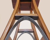 Eiffel, barstool recycled oak wine barrel high stool