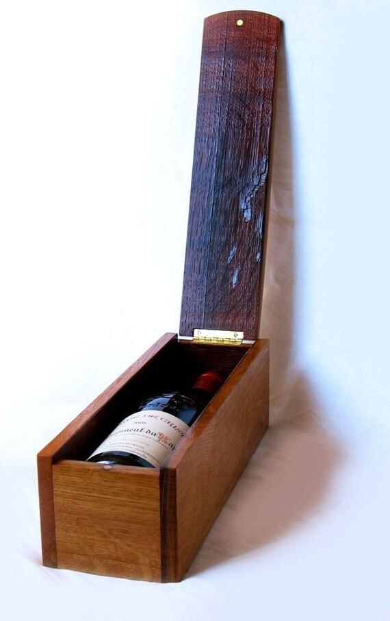 Lumberghini, finest wine gift box, recycled oak wine barrel