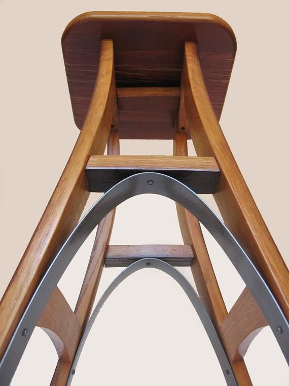 Eiffel, barstool recycled oak wine barrel high stool