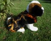 Dog Coat in Fake Fur Lined in Fleece Size MEDIUM