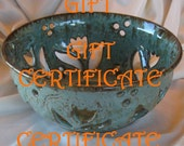 Gift Certificate is great if you are not sure what your friends like...any amount available.