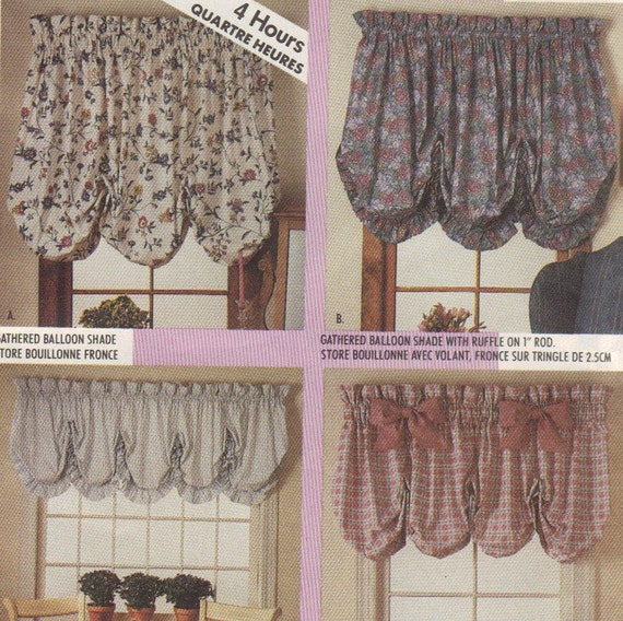 Gathered Balloon Shades And Valances Pattern McCalls 4620