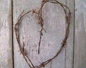 Barbed Wire Heart Rusty Vintage Industrial Decor TRUE