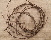 Barbed Wire Industrial Home Decor Vintage Rusty Wreath