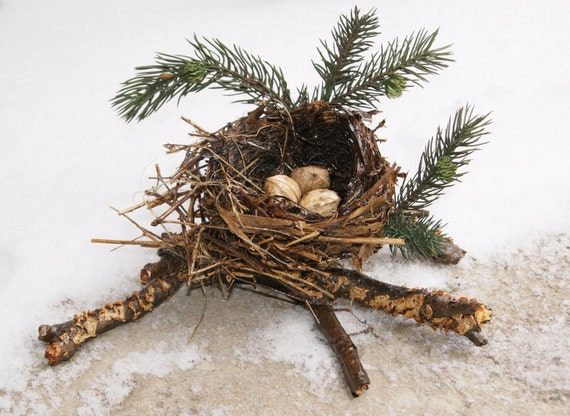 RESERVED - Natural Nest Fall and Winter Decor WOODLAND TREASURES