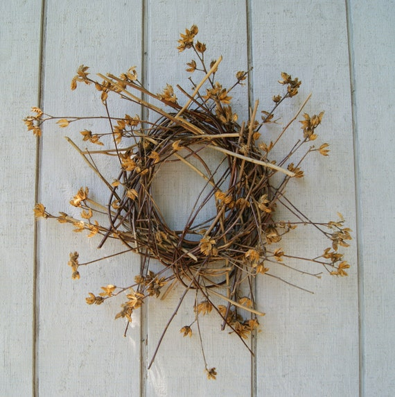 Twig Wreath - Primitive Wreath - Natural Rose of SharonTwigs