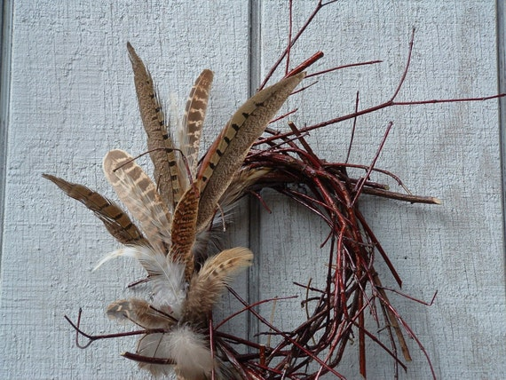 Wild Twigs n Feathers Natural Wreath