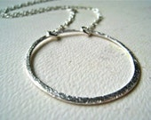 Eternity Necklace - silver circle necklace, everyday circle necklace, eternity circle jewelry, bridesmaid jewelry, timeless jewelry